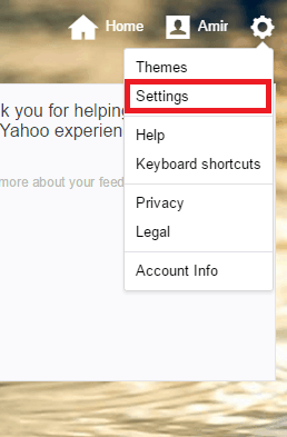 How to put a signature in yahoo mail