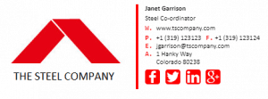 Janet Garrison - Email Signature Example