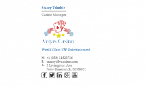 Email Signature Example for Casino