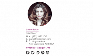 Email Signature Example for Freelancer