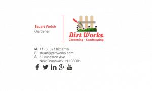 Email Signature Example for Gardener