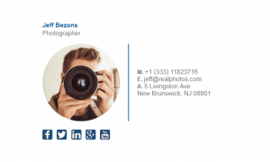 Email Signature Example for Photographer