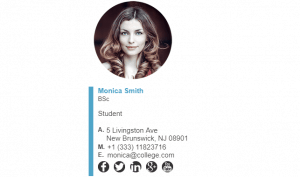 Email Signature Example for Student