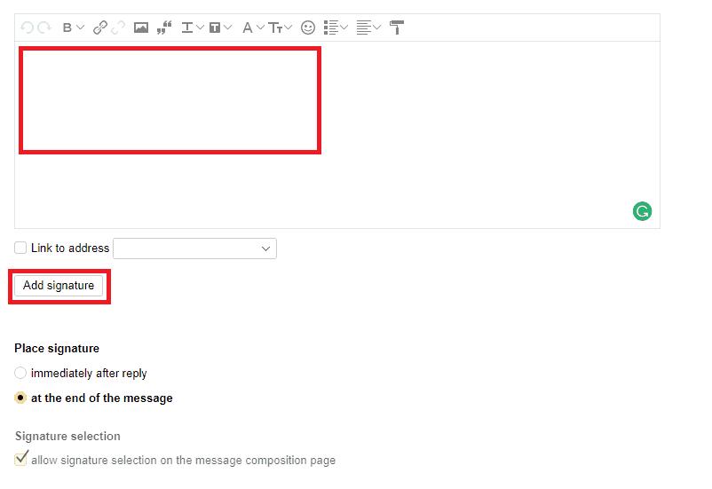 How to Add an Email Signature in Yandex | Gimmio