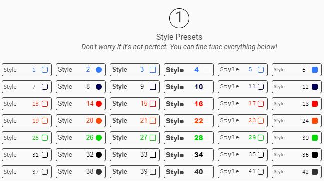 ZippySig Style Presets