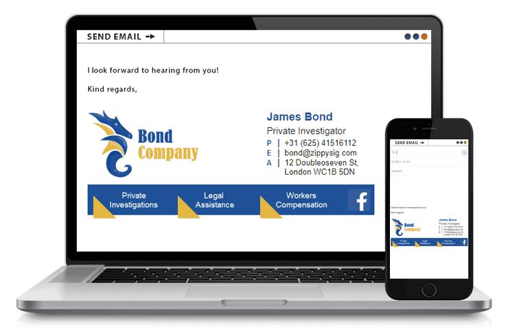 James Bond - Email Signature Example