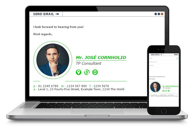Jose Cornholio - Email Signature Example