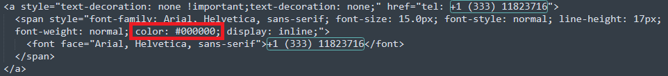 Email Signature Font Color