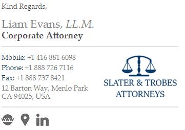 email signature liam evans
