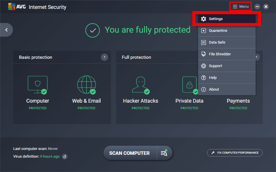 avg-internet-security-menu-settings