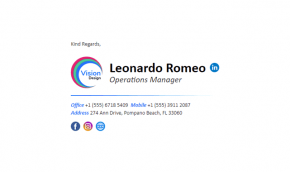 Email Signature Example for Companies