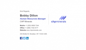 Email Signature Example for Corporations