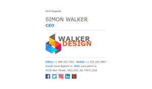 Email Signature Example for Design Agencies