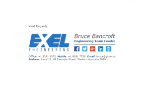 Email Signature Example for Engineers