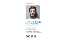 Email Signature Example for Graphic Designers