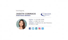 Email Signature Example for Mortgage Brokers