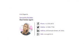 Email Signature Example for Real Estate Agents