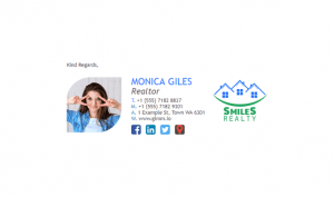Email Signature Example for Realtors