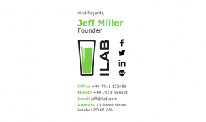 Email Signature Example for Small Business
