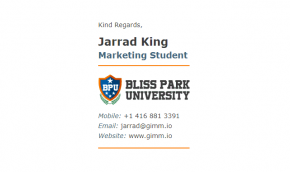 Email Signature Example for Students