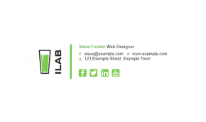 Email Signature Example for Web Designers