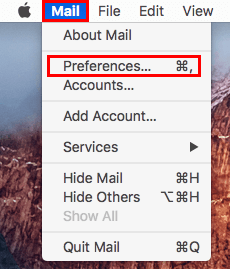 Apple Mail Mail Preferences