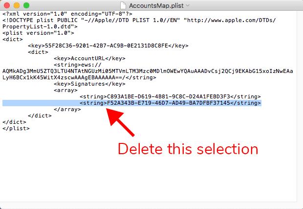 Apple Mail Signatures Folder AccountsMap Delete String